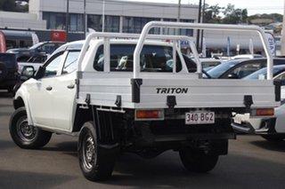 2017 Mitsubishi Triton MQ MY17 GLX Double Cab White 6 Speed Manual Cab Chassis.