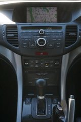2009 Honda Accord Euro CU Luxury White 5 Speed Automatic Sedan