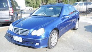 2005 Mercedes-Benz C-Class W203 MY2005 C200 Kompressor Classic Blue 5 Speed Sports Automatic Sedan.