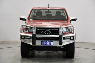 2018 Toyota Hilux GUN126R SR5 Double Cab Red 6 Speed Sports Automatic Utility.