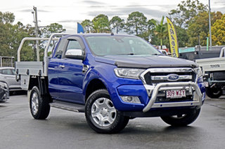 2017 Ford Ranger PX MkII XLT Super Cab Blue 6 Speed Manual Utility.