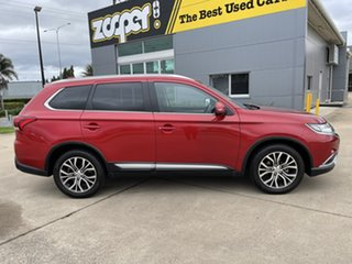 2016 Mitsubishi Outlander ZK MY17 LS 4WD Red/231216 6 Speed Constant Variable Wagon.