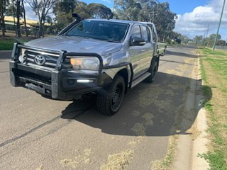 2015 Toyota Hilux GUN126R SR (4x4) Silver Sky 6 Speed Manual Dual Cab Chassis