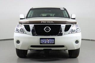 2017 Nissan Patrol Y62 Series 3 Update TI (4x4) White 7 Speed Automatic Wagon.