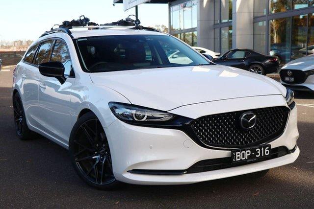 Demo Mazda 6 GL1033 GT SP SKYACTIV-Drive South Melbourne, 2021 Mazda 6 GL1033 GT SP SKYACTIV-Drive Snowflake White 6 Speed Sports Automatic Wagon
