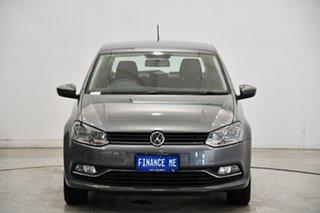 2015 Volkswagen Polo 6R MY15 81TSI DSG Comfortline Pepper Grey 7 Speed Sports Automatic Dual Clutch.