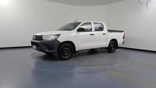 2018 Toyota Hilux TGN121R MY17 Workmate White 6 Speed Automatic Dual Cab Utility.