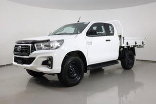 2019 Toyota Hilux GUN126R MY19 SR (4x4) White 6 Speed Manual X Cab Cab Chassis.