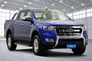 2017 Ford Ranger PX MkII XLT Double Cab Aurora Blue 6 Speed Sports Automatic Utility.