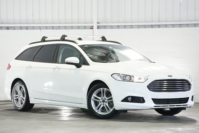 Used Ford Mondeo MD Ambiente Erina, 2015 Ford Mondeo MD Ambiente White 6 Speed Sports Automatic Wagon
