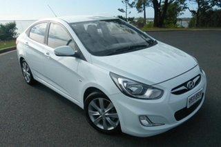 2012 Hyundai Accent RB Active White 4 Speed Sports Automatic Sedan.