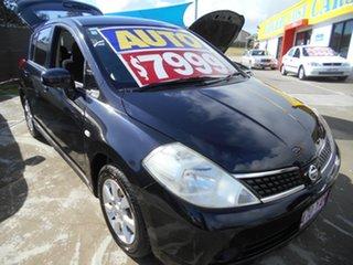 2006 Nissan Tiida C11 ST-L Black 4 Speed Automatic Hatchback.