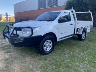 2015 Holden Colorado RG MY15 DX (4x4) White 6 Speed Manual Cab Chassis.