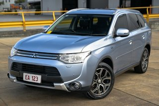2015 Mitsubishi Outlander ZJ MY14.5 PHEV AWD Aspire Silver 1 Speed Automatic Wagon Hybrid.