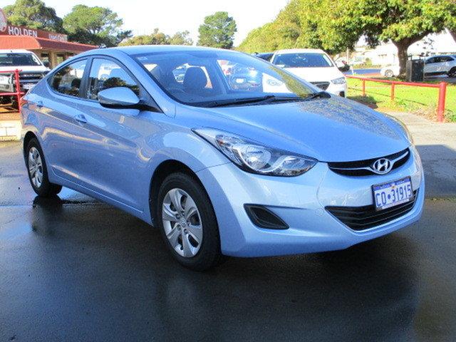 Used Hyundai Elantra MD Active Katanning, 2012 Hyundai Elantra MD Active Blue 6 Speed Automatic Sedan