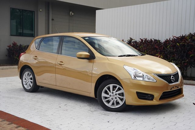 Used Nissan Pulsar C12 ST Cairns, 2014 Nissan Pulsar C12 ST Gold 1 Speed Constant Variable Hatchback