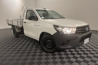2016 Toyota Hilux GUN122R Workmate 4x2 Glacier 5 speed Manual Cab Chassis.