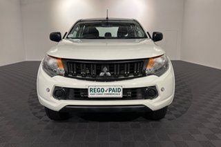 2018 Mitsubishi Triton MQ MY18 GLX Double Cab 4x2 White 5 speed Automatic Utility.