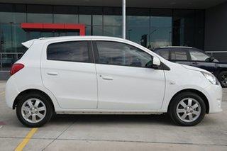 2013 Mitsubishi Mirage LA MY14 ES White 1 Speed Constant Variable Hatchback.