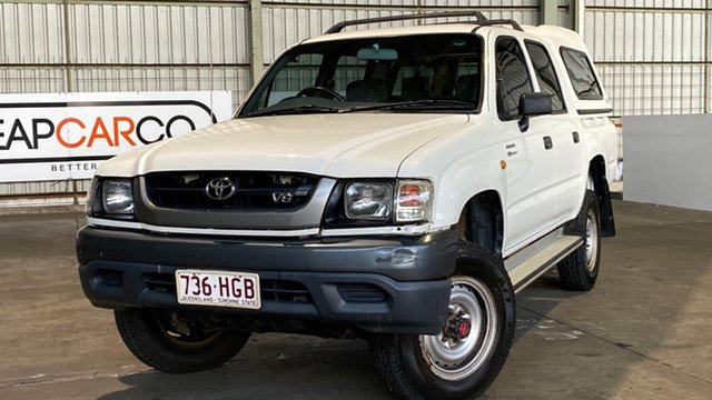 Used Toyota Hilux VZN167R MY02 Rocklea, 2003 Toyota Hilux VZN167R MY02 White 4 Speed Automatic Utility