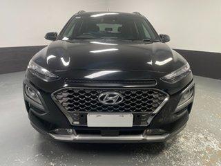 2017 Hyundai Kona OS MY18 Elite 2WD Phantom Black 6 Speed Sports Automatic Wagon.
