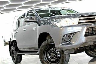 2016 Toyota Hilux GUN126R SR (4x4) Grey 6 Speed Automatic Dual Cab Utility.