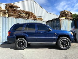 2005 Jeep Grand Cherokee WG MY2004 Overland Blue 5 Speed Automatic Wagon.
