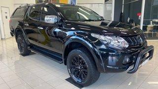 2017 Mitsubishi Triton MQ MY17 GLS Double Cab Black 5 Speed Sports Automatic Utility.