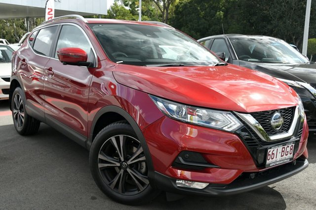 Demo Nissan Qashqai J11 Series 3 MY20 ST-L X-tronic Aspley, 2020 Nissan Qashqai J11 Series 3 MY20 ST-L X-tronic Magnetic Red 1 Speed Constant Variable Wagon