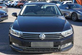 2018 Volkswagen Passat 3C (B8) MY18 132TSI DSG Black 7 Speed Sports Automatic Dual Clutch Sedan.