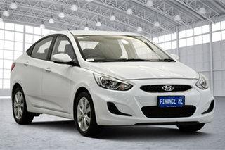 2018 Hyundai Accent RB6 MY18 Sport White 6 Speed Sports Automatic Sedan.