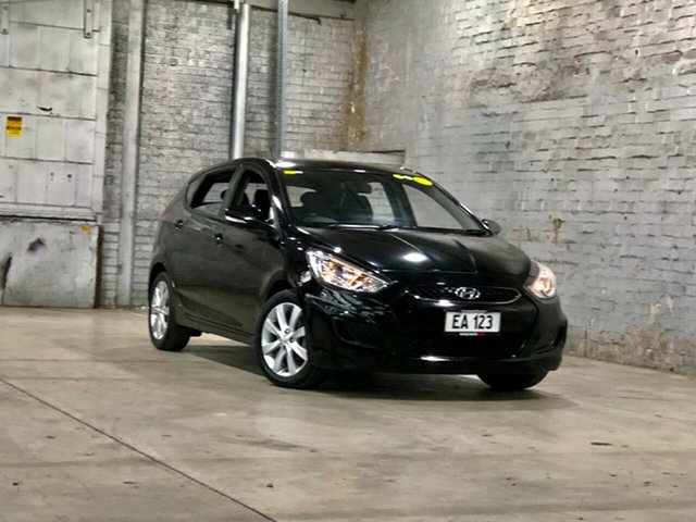 Used Hyundai Accent RB5 MY17 Sport Mile End South, 2017 Hyundai Accent RB5 MY17 Sport Black 6 Speed Sports Automatic Hatchback
