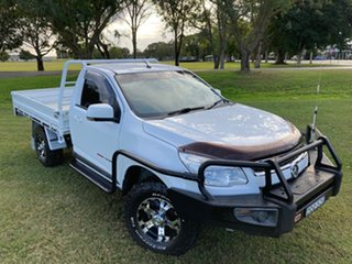 2015 Holden Colorado RG MY15 LS (4x4) White 6 Speed Automatic Cab Chassis.