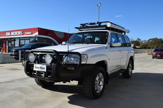 2008 Nissan Patrol GU 6 MY08 ST White 5 Speed Manual Wagon.