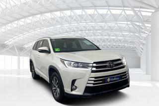 2018 Toyota Kluger GSU55R GXL (4x4) Crystal Pearl 8 Speed Automatic Wagon.
