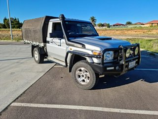 2018 Toyota Landcruiser VDJ79R GXL Silver 5 Speed Manual Cab Chassis.