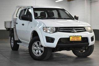2014 Mitsubishi Triton MN MY15 GLX Double Cab White 4 Speed Sports Automatic Utility.