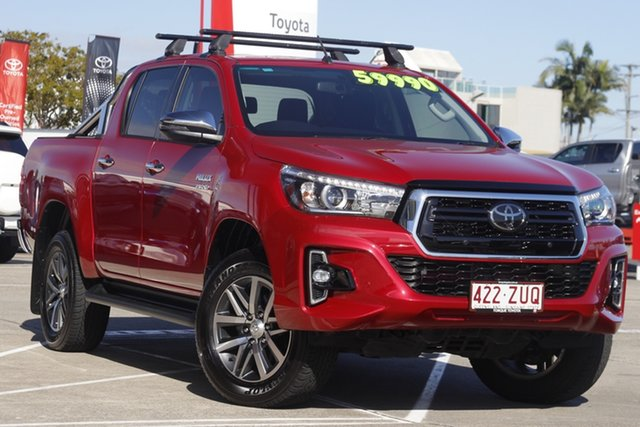 Pre-Owned Toyota Hilux GUN126R SR5 Double Cab Albion, 2020 Toyota Hilux GUN126R SR5 Double Cab Olympia Red 6 Speed Sports Automatic Utility
