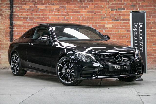 Demonstrator Mercedes-Benz C-Class C205 801MY C300 9G-Tronic Mulgrave, 2021 Mercedes-Benz C-Class C205 801MY C300 9G-Tronic Obsidian Black 9 Speed Sports Automatic Coupe