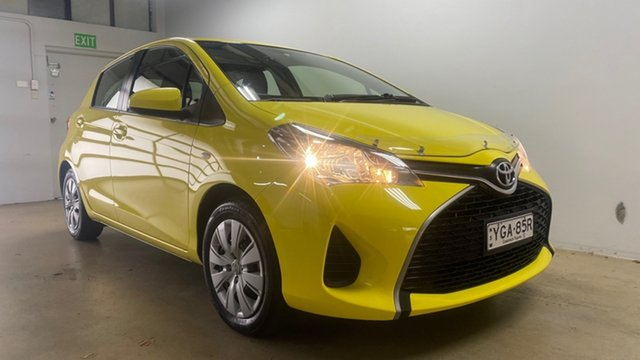 Used Toyota Yaris NCP130R MY15 Ascent Phillip, 2015 Toyota Yaris NCP130R MY15 Ascent Yellow 5 Speed Manual Hatchback