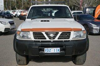 1998 Nissan Patrol GU ST White 5 Speed Manual Wagon.