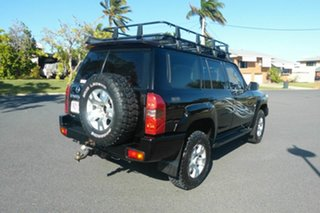 2004 Nissan Patrol GU IV MY05 ST Black 5 Speed Manual Wagon.