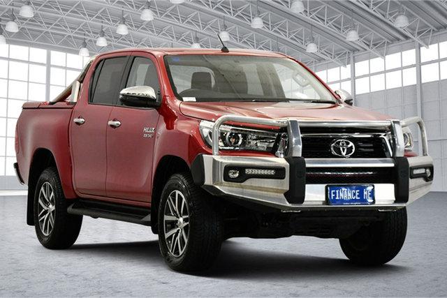 Used Toyota Hilux GUN126R SR5 Double Cab Victoria Park, 2018 Toyota Hilux GUN126R SR5 Double Cab Red 6 Speed Sports Automatic Utility