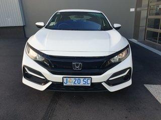 2020 Honda Civic 10th Gen MY20 VTi White 1 Speed Constant Variable Hatchback