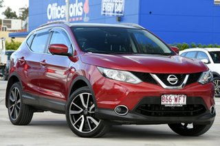 2015 Nissan Qashqai J11 TI Red 1 Speed Constant Variable Wagon.