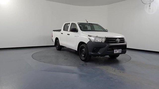 Used Toyota Hilux TGN121R MY17 Workmate Altona North, 2018 Toyota Hilux TGN121R MY17 Workmate White 6 Speed Automatic Dual Cab Utility
