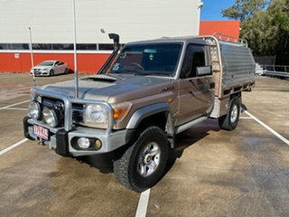 2007 Toyota Landcruiser VDJ79R GXL (4x4) Gold 5 Speed Manual Cab Chassis