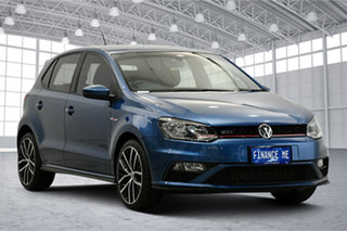2015 Volkswagen Polo 6R MY16 GTi Blue Silk Metallic 6 Speed Manual Hatchback.