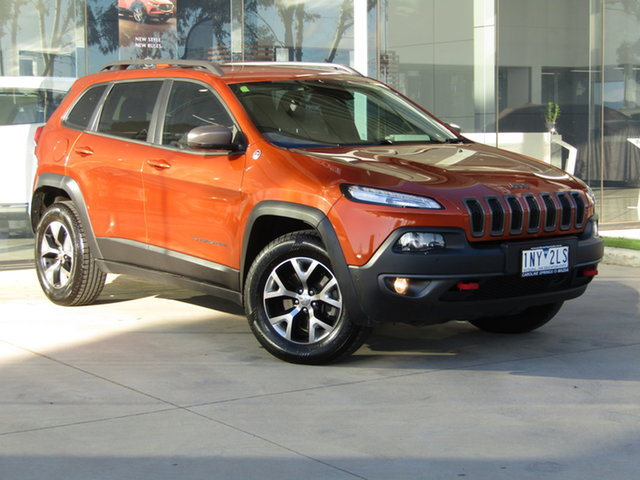 Used Jeep Cherokee KL MY15 Trailhawk Ravenhall, 2015 Jeep Cherokee KL MY15 Trailhawk Orange 9 Speed Sports Automatic Wagon