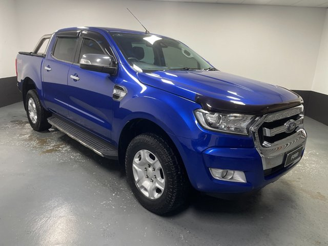 Used Ford Ranger PX MkII XLT Double Cab Rutherford, 2016 Ford Ranger PX MkII XLT Double Cab Aurora Blue 6 Speed Sports Automatic Utility